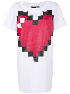 платье-футболка с принтом  Love Moschino