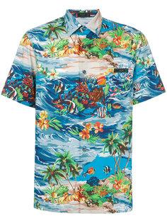 рубашка с принтом-пейзажем Prada