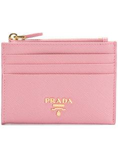визитница с бляшкой с логотипом  Prada