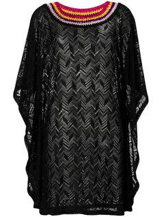 платье-свитер с контрастным воротником Missoni