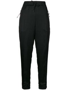 брюки кроя слим с эластичным поясом Prada