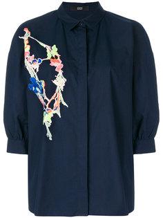 рубашка с цветочной вышивкой  Steffen Schraut