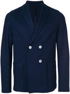 двубортный приталенный пиджак  Harris Wharf London