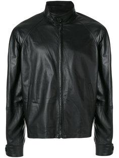 кожаная куртка Prada