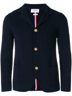 пиджак с ребристой фактурой с полосками на спине Thom Browne