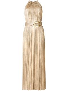 вечернее платье с поясом Maria Lucia Hohan