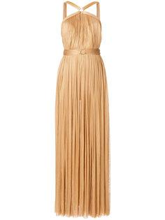 плиссированное платье с перекрестными лямками Maria Lucia Hohan