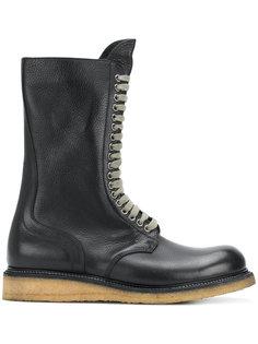 армейские ботинки на шнуровке Rick Owens