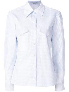 прталенная рубашка в клетку Stella McCartney