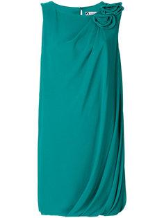 платье с цветочной аппликацией  Lanvin
