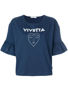 укороченная футболка с баской Vivetta