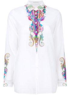 прозрачная блузка с принтом пейсли Etro