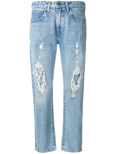 destroyed cropped jeans  Levis: Made & Crafted