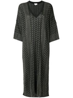 расклешенное платье с узором  Lala Berlin