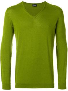 свитер с V-образным вырезом Drumohr