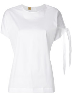 рубашка с короткими рукавами с завязкой  Fay