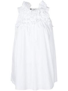 блузка без рукавов с рюшами Lanvin