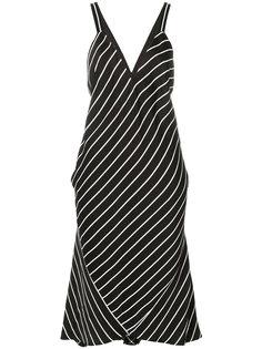 полосатое платье с V-образным вырезом Haider Ackermann