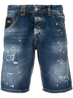 джинсовые шорты с потертой отделкой John Richmond