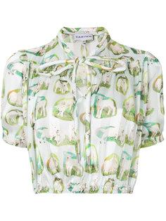 укороченная рубашка с принтом  Carven