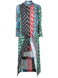 платье-рубашка в стиле пэчворк  Carven