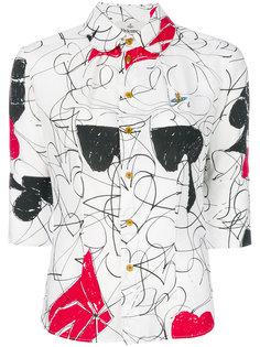 рубашка с абстрактным принтом  Vivienne Westwood