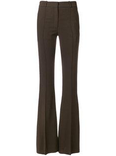строгие расклешенные брюки  Victoria Beckham