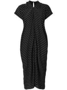 полосатое платье с V-образным вырезом T By Alexander Wang