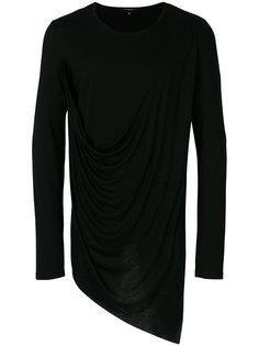 asymmetric draped T-shirt Unconditional