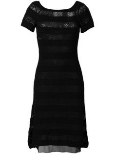 полосатое трикотажное платье  Moschino