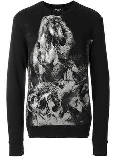 horse print sweatshirt  Balmain