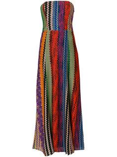 платье без лямок с вышивкой Missoni