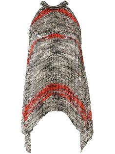 """плиссированная блузка дизайна """"колор-блок"""" Missoni"""