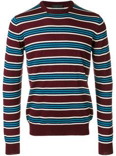 полосатый пуловер с круглым вырезом Prada