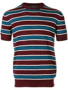 пуловер в полоску с короткими рукавами Prada