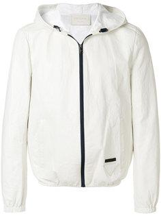 куртка на молнии с капюшоном Prada
