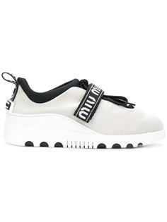 кроссовки с застежкой на липучки  Miu Miu