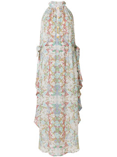платье-макси с абстрактным принтом Pierre Balmain