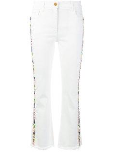 укороченные джинсы с вышивкой Etro