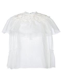 блузка с оборочным воротником Giambattista Valli