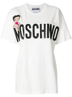 футболка с логотипом Betty Boop Moschino