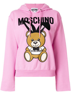 толстовка с капюшоном Playboy Teddy Moschino