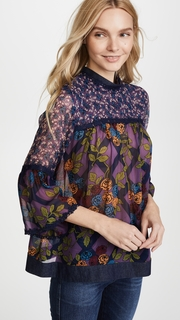 Anna Sui Rose Trellis Top