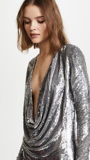 ASHISH Short Drape Front Dress