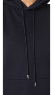 ATM Anthony Thomas Melillo Brushed Black Flannel Sleeveless Hoodie