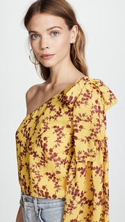 Amanda Uprichard One Shoulder Top