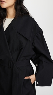A.W.A.K.E. Oversized Coat With Sleeve Details Awake