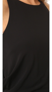 Badgley Mischka Collection Drape Back Jersey Gown