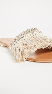 Badgley Mischka Sharlene Fringe Slides