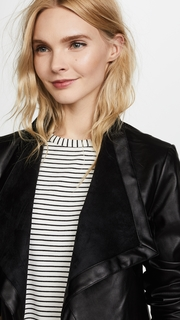 BB Dakota Peppin Vegan Leather Drapey Jacket